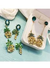Pineapple Earrings 2019 Summer Korean Earring Pendant Long Exaggerated Drop Fruit for Women Fashion Boho Jewelry