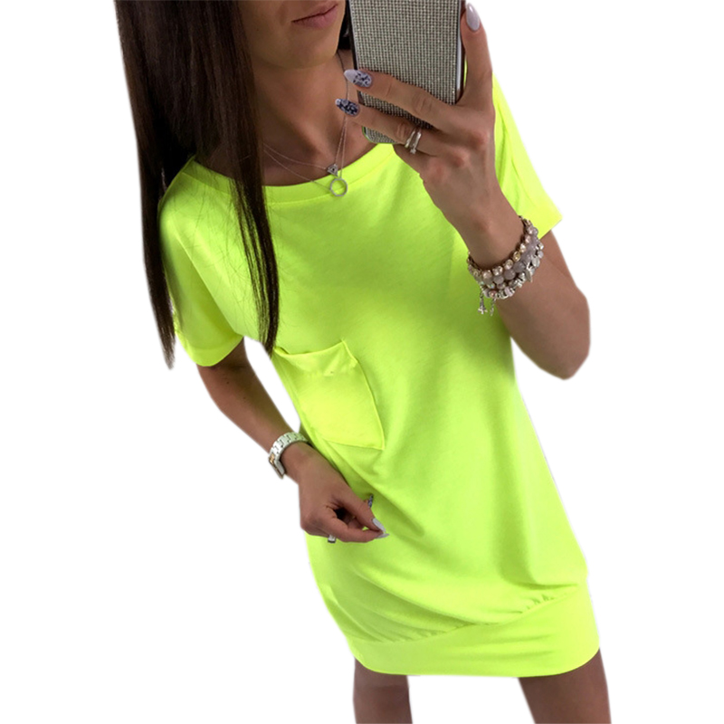 Mini Dress 2018 Casual Women Kawaii Backless Dresses Solid Sundress Female Short Sleeve O-neck Sexy New Plus Size GV808 1