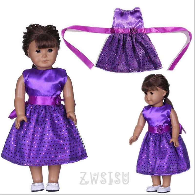 Кукла одежда новорожденный новый ребенок подходит 18 дюймов 43 см кукла темно синий, фиолетовый, зеленый платье для девочек аксессуары для ребенка подарок на день рождения