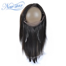 New Star 360 Lace Frontal Brazilian Straight Virgin Human Hair With Baby Hair 10-20 Inches Free Part Natural Hairline Free Ship