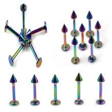 3MM 4MM Wholesale 20Pcs/lot 316L Stainless Steel Spike Lip Piercing Labret Bar Body Jewelry Ear Stud Rings For Men/Women