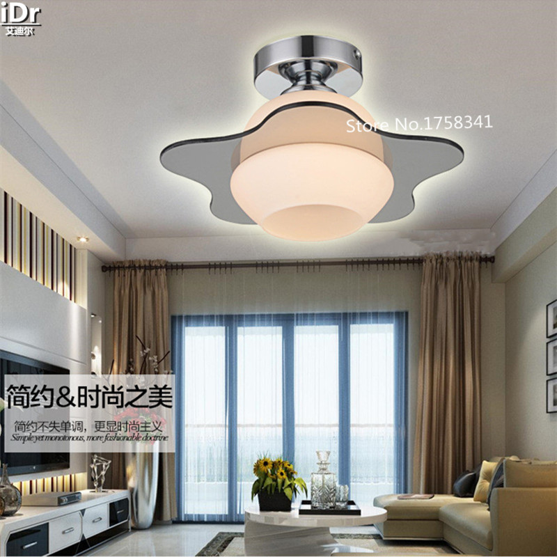 ФОТО Modern minimalist crystal ceiling lamps living room ceiling creative fashion luxury crystal LED ceiling light c-014