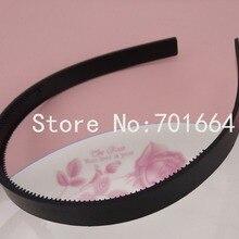 10 шт. 12 мм черные простые пластиковые повязки для волос с двумя рядами зубов, 12 мм teethed пластиковые обручи