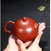 1PCS/lot Yixing Zisha pot Handmade Dahongpao Zhu Mu Xi Shi Teapot Household Tea Set Accessories WSHYUFEI
