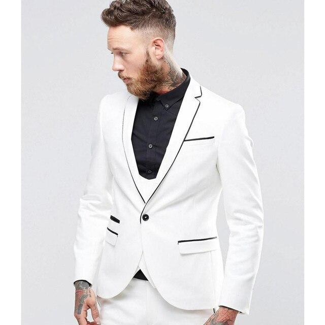 2018 Custom Made Classic Mens Suits Set White (Jacket+Pants+Vest ...