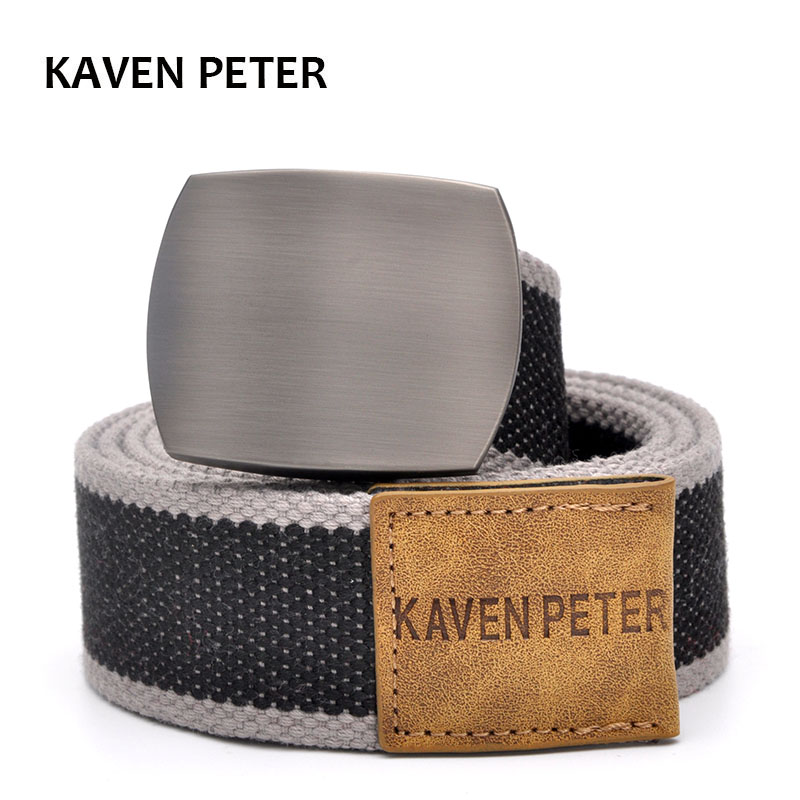 Canvas Belt For Men With Automatic Buckle Man Canvas Tactical Belts Without Holes Military Belt Width 3.8CM Extended 160 CM