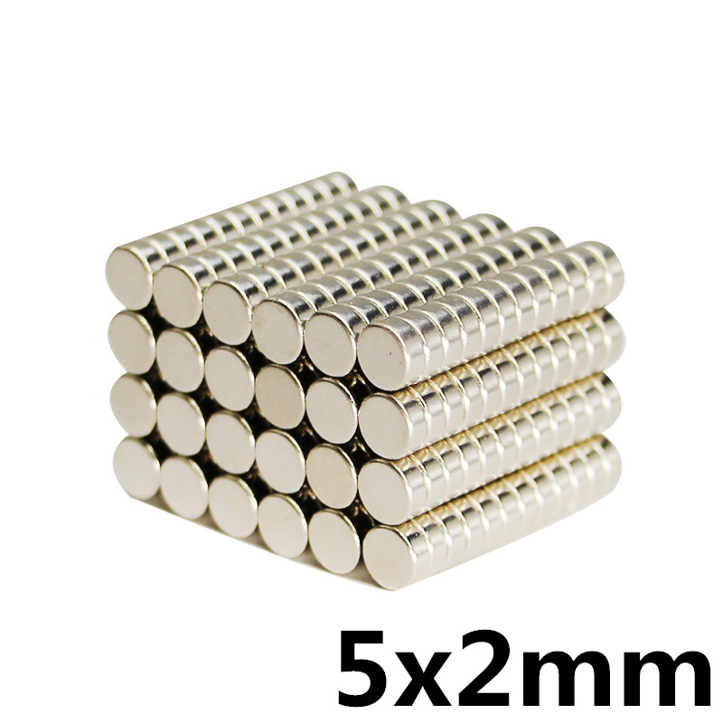 100Pcs 5x2 Neodymium Magnet 5mm x 2mm N35 NdFeB Permanent Small Round Super Powerful Strong Magnetic Magnets Disc 5*2mm diy 5 x 5mm cylindrical ndfeb magnet silver 20 pcs page 3