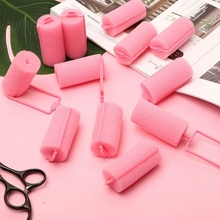 12 шт. темно-розовые волосы Стайлинг мягкий пенопласт, пенопласт ролики бигуди парикмахерские инструменты