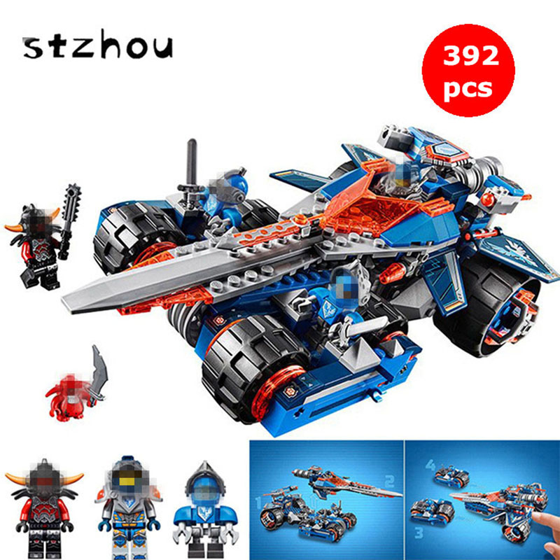 StZhou Nexo Knights Axl Clay's Rumble Blade Combination Marvel Blocks Models & Building Toy For Kids Best Gift Compatible Nexus