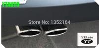 Tail pipe exhaust tip muffler for volkswagen vw Tiguan,passta B7 car styling