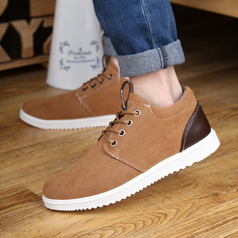 Flock Men Casual Shoes Flat Sneakers Lace-Up Mens Footwear Breathable Classic Solid Male Shoes Light Summer Casual Shoes AET654