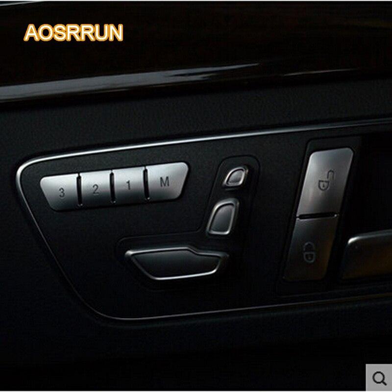 AOSRRUN Modified seat memory key adornment 12 PCS Car Accessories for Mercedes Benz A Class B Class E Class GLA CLA GLK GLE CLS