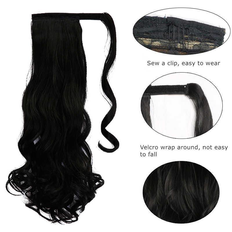 MSTN 24 дюймовые Длинные Накладные Синтетические прямые хвосты для женщин, натуральные накладные волосы на заколках, накладные волосы блонд