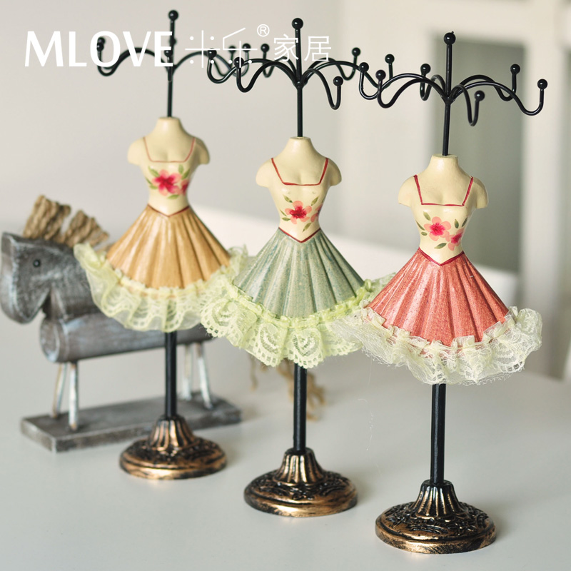 Fashion princess dress jewelry holder accessories rack earrings