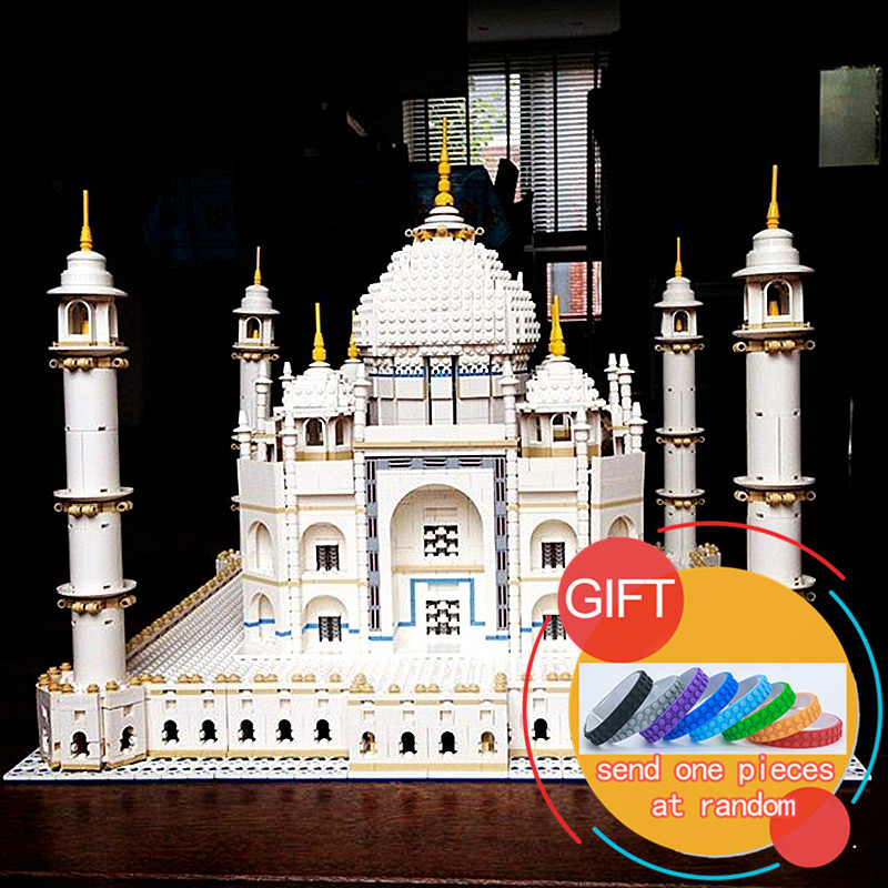 17001 5952pcs The Tai Mahal set Model Building Kits Blocks Compatible with 10189 toys lepin lepin17001 city street tai mahal model building blocks kids brick toys children christmas gift compatible 10189 educational toys