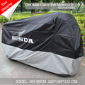 New Motocycle Cover  Water Proof Motorcycle Black  Sliver Down with Logo 210t Material Motocycle for yamaha majester honda cbr