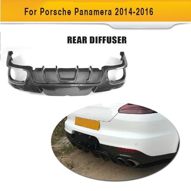 Carbon Fiber Rear Bumper Lip Spoiler Diffuser for Porsche Panamera 970 GTS Turbo S Hatchback Facelift 2014 2015 2016