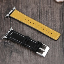 5 Colors New Style Leather Strap For Apple Watch 1 2 3 4 Series Watchband 38mm 42mm 40mm 44mm Wristwatch Bracelet Soft Band