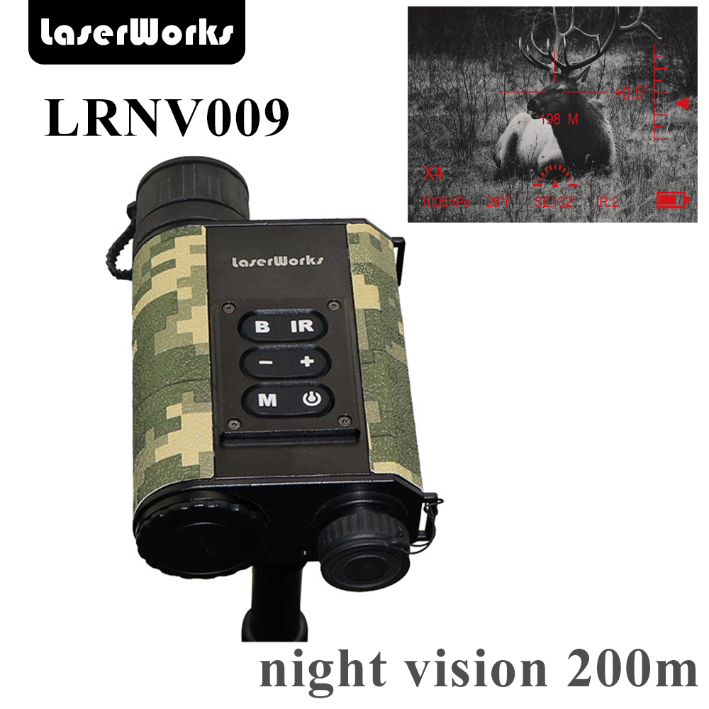 LaserWorks infravörös éjszakai látás LRNV009 6X32 500 m-es lézeres távolságmérővel, 480X240 digitális tiszta kép