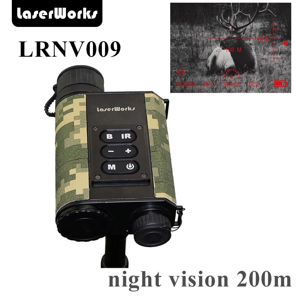 LaserWorks Visione Notturna A Raggi Infrarossi LRNV009 6X32 con 500 m Telemetro Laser, 480X240 digitale quadro chiaro