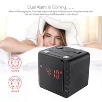 Dual Alarm With Snooze 11.93cm x 10.41cm x 10.92cm LED Large Display USB Alarm Clock Radio Digital AM/FM Radio