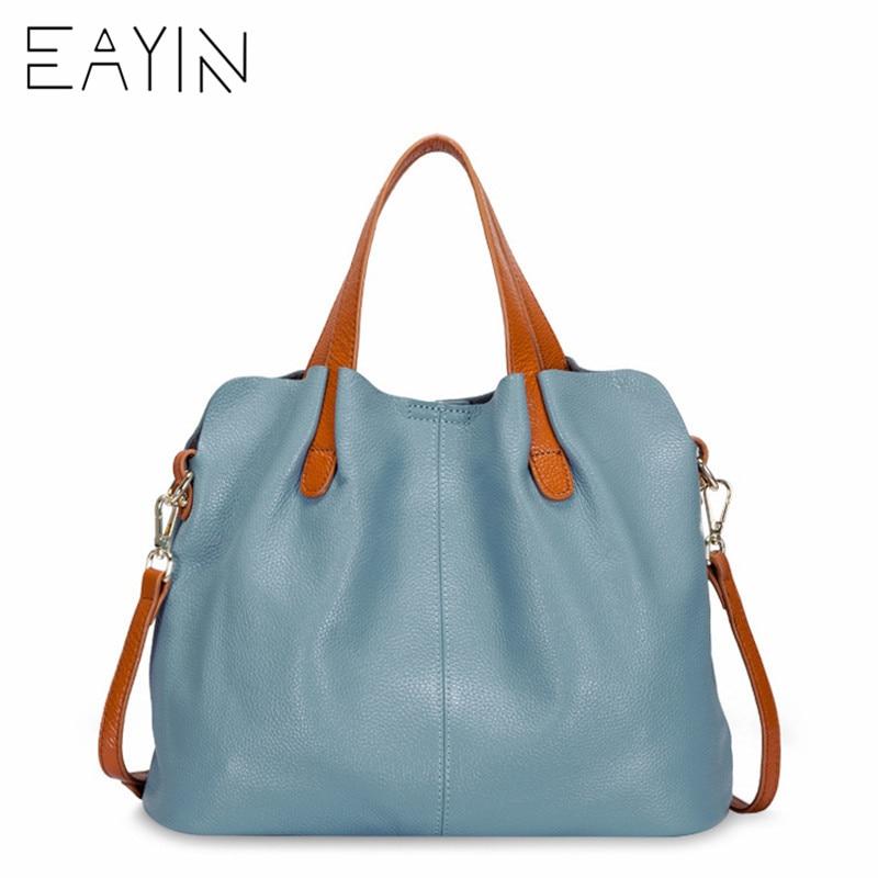 Eayin 가방 여성 여성 정품 가죽 가방 핸드백 크로스 바디 가방 여성용 어깨 가방 정품 가죽 bolsa feminina tote-에서숄더 백부터 수화물 & 가방 의  그룹 1