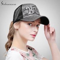 Sedancasesa Mode casquette de baseball femmes camionneur chapeau soleil d'été chapeau chapeau de hip-hop pour soleil protéger visière filles cool WG160063