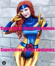 Высокое качество 3D печати 90s Жан Серый X Men Косплей Костюм зентай X man наряд женщина/девушки/леди Xmen костюмы, только боди