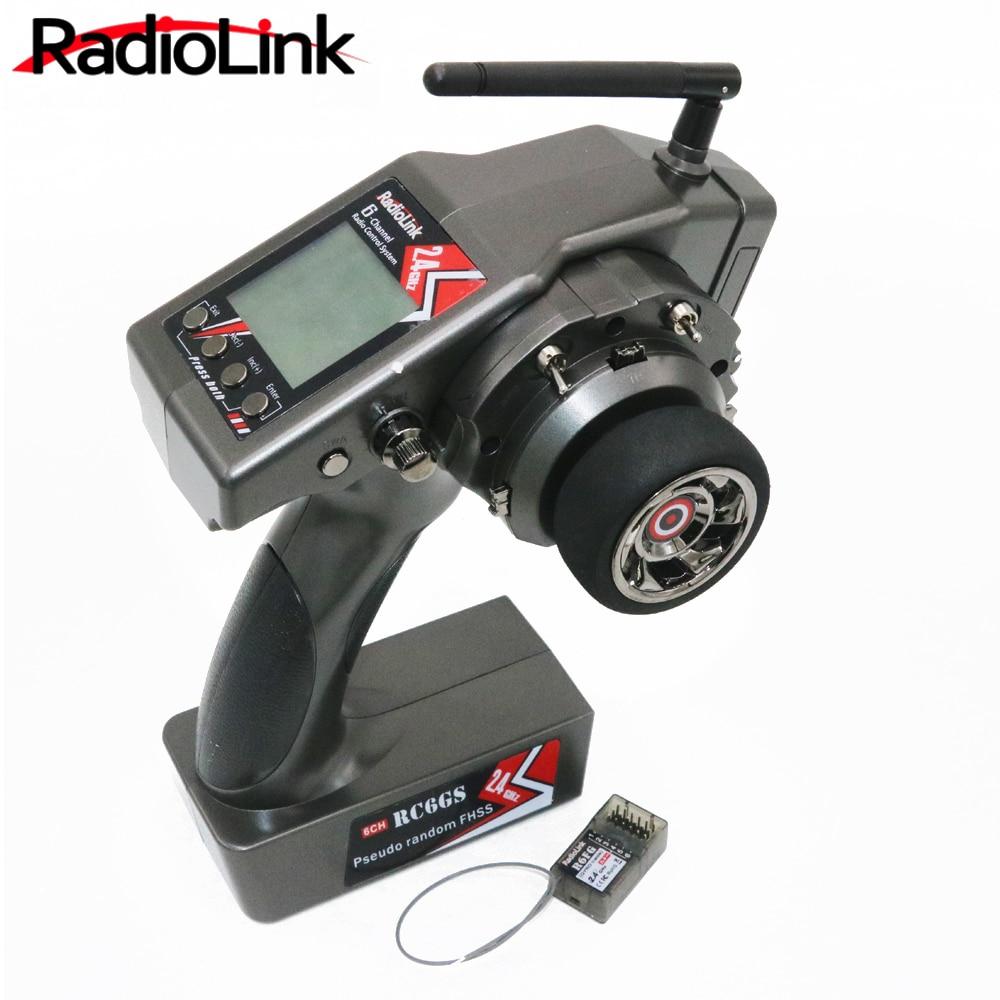 RadioLink RC6GS 2,4 г 6CH Rc автомобиль контроллер передатчик + R6FG гироскопа внутри приемник для автомобиля лодка (м 400 м расстояние)