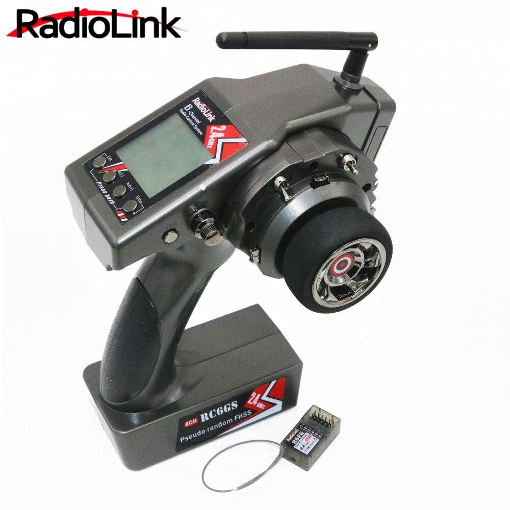 RadioLink RC6GS 2.4g 6CH Rc Voiture Contrôleur Émetteur + R6FG Gyro À L'intérieur Récepteur pour RC Voiture Bateau (400 m Distance)