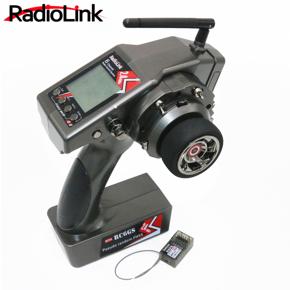 Radiolink RC6GS 2.4g 6CH RC controlador transmisor + R6FG Gyro interior receptor para RC coche barco (400 M distancia)