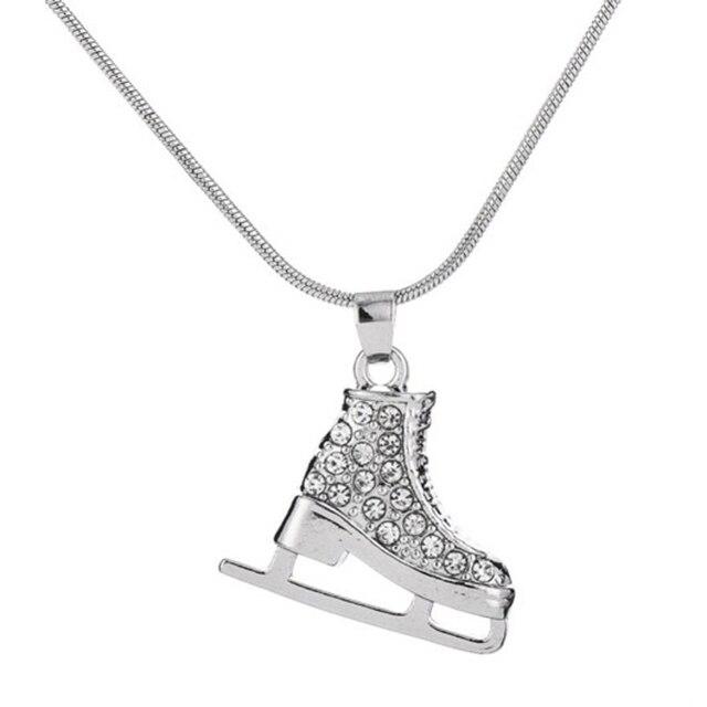 3d crystal ice skate figure skating pendant skater necklace jewelry 3d crystal ice skate figure skating pendant skater necklace jewelry gifts for teens girls women aloadofball Gallery