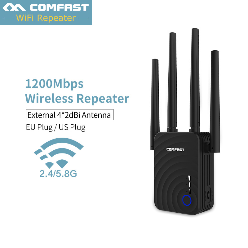 New~ COMFAST CF WR754AC WIFI Router 1200Mbps Home Wireless Extender Router Repeater 2.4G&5G Wifi Range Extender4*2dbi Antenna