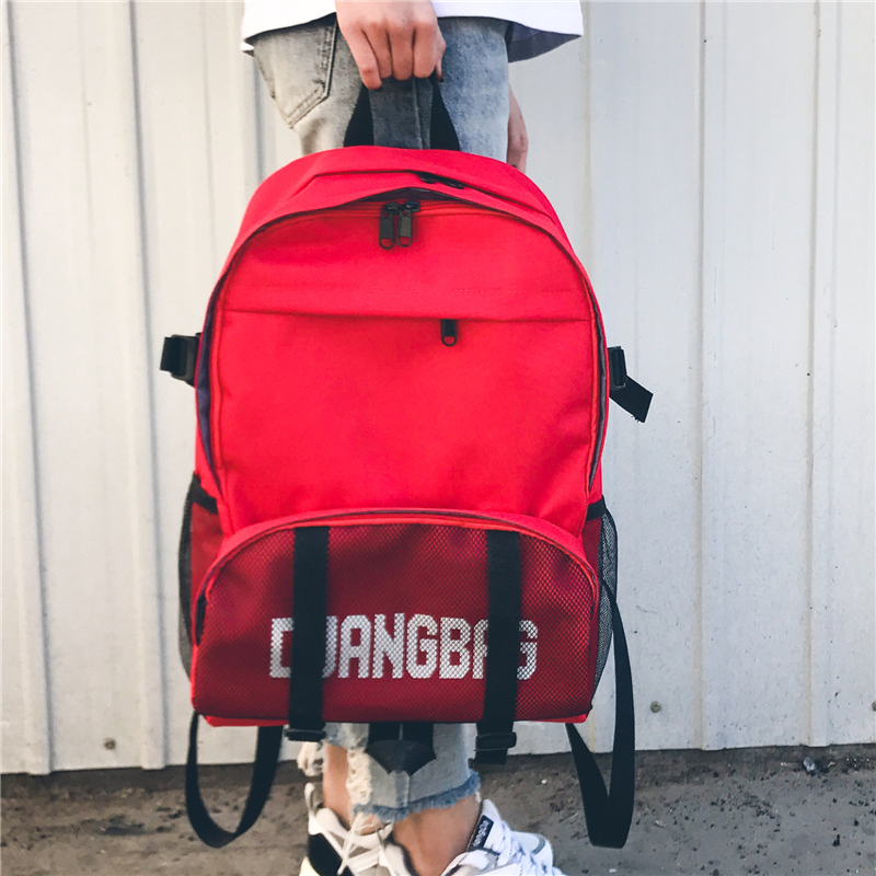 Ulzzang Chic Printing Backpacks Women Men Brief Simple Large Rucksack Fashion Canvas Bags Retro Casual Travel School Bags tangimp drawstring backpacks embroidery dear my universe cherry rocket printing canvas softback man women harajuku bags 2018