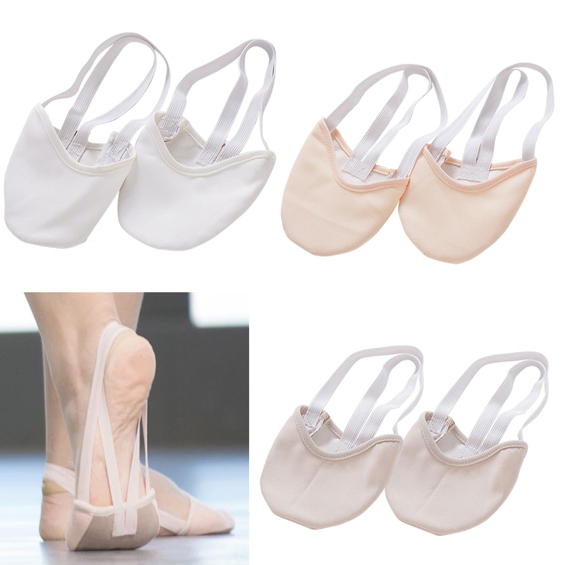 New Half Length Rhythmic Gymnastic Shoes Roupa Ginastica Child Adult Gymnastics Pig Skin Sole Shoes Beige Dancing Dance