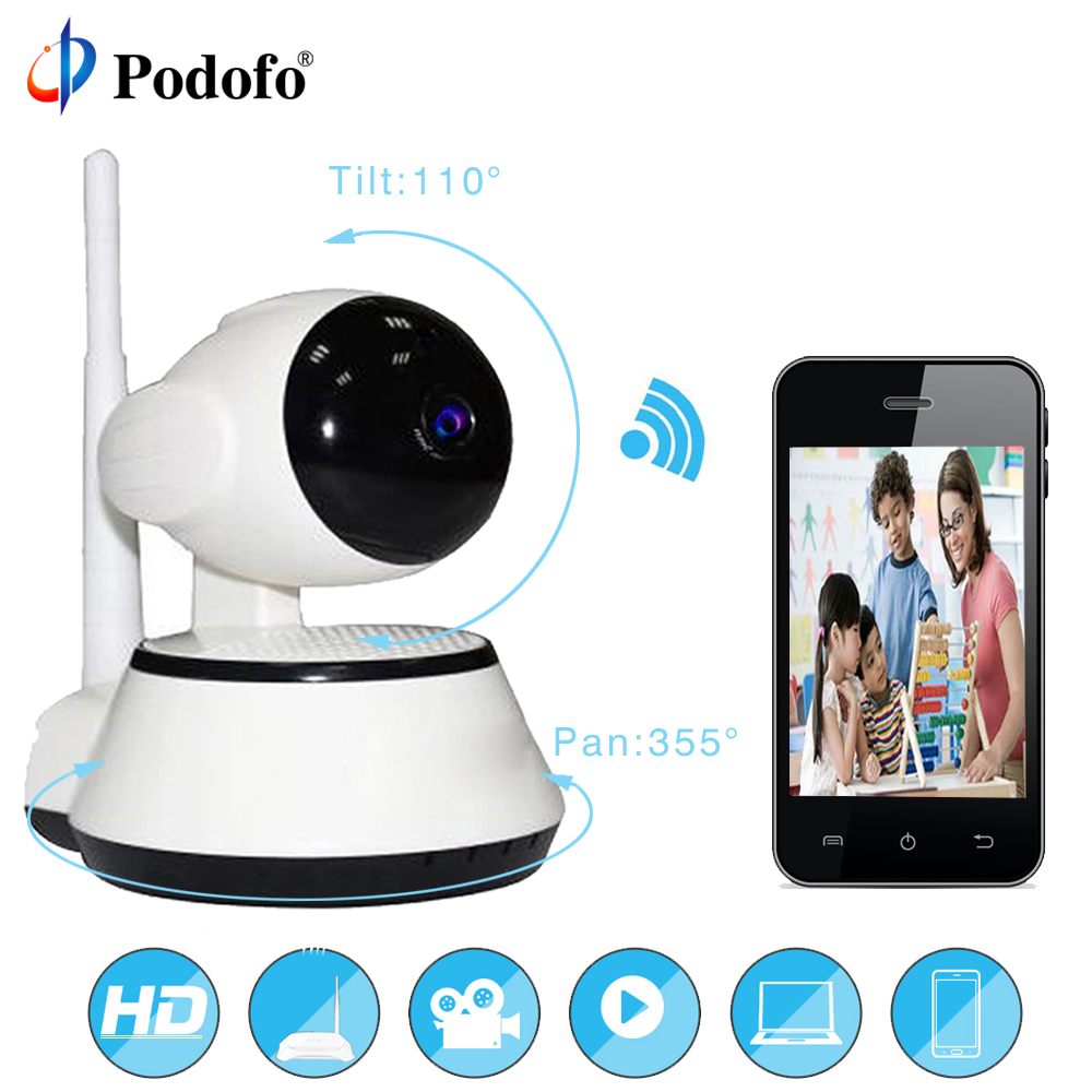 Podofo Home Security IP Camera Wireless Smart WiFi Camera WI FI Audio Record Surveillance Baby Monitor