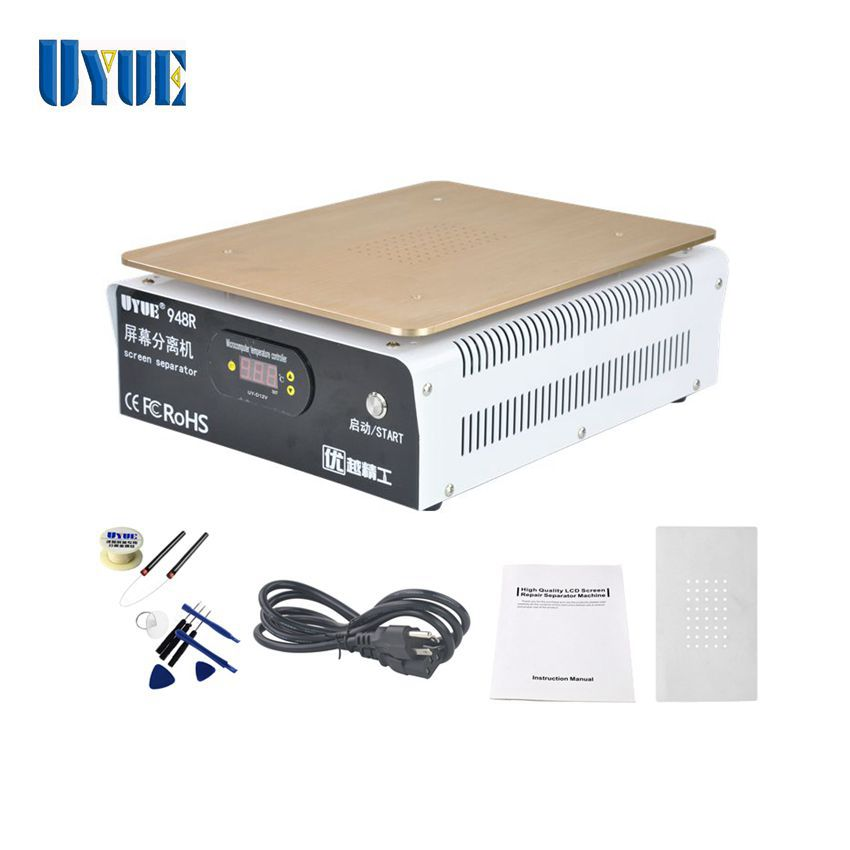 UYUE 18 inch 948R Plus Built-in Vacuum Pump LCD Separator Machine for Mobile Phone LCD Touch Screen Repair built in air vacuum pump ko semi automatic lcd separator machine for separating assembly split lcd ts ouch screen glas