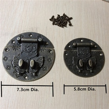 Vintage Alloy Butterfly Clasp Buckles Wooden Jewelry Wine Box Decor Chinese Furniture Hardware,Bronze Tone,8Sets