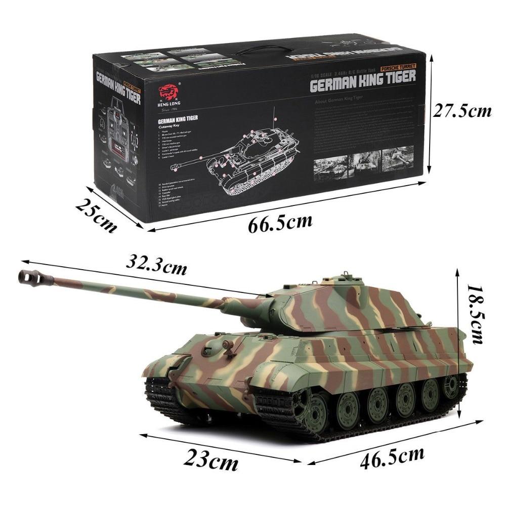 Heng long rc tanque Sherman Tigre rey alemán Tiger Motor de actualización de torreta gira