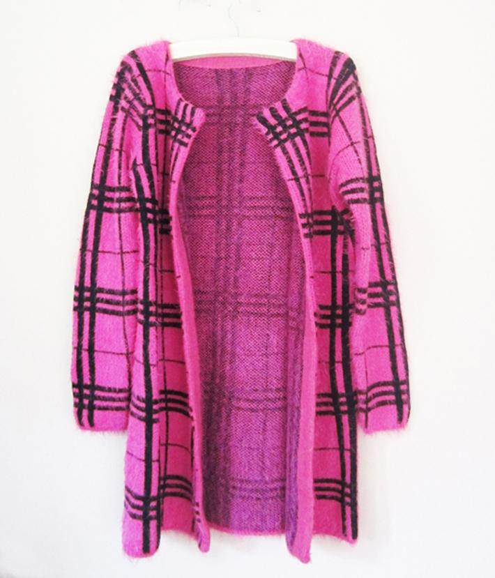 Knitting Items For Sale : Aliexpress buy sale items new long plaid stripe
