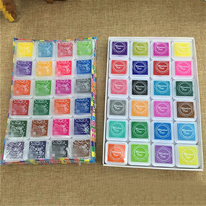 Image 3 - 24 Colors Cute Inkpad Cartoon Stamp Craft Oil Based DIY Ink Pads for Rubber Stamps Scrapbook Decor Fingerprint Kids Toy
