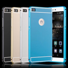 acdf57ab033 For Huawei P8 lite Case 5.0'' Metal Aluminum Frame Bumper + Hard PC Back  Cover for Huawei P 8 Lite Funda P8lite 2015 Phone Cases