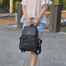 Wanu черный кожаный Винтаж роскошные дизайнерские модные путешествия рюкзак/мешок высокое качество с Ленточки для Для женщин/школьные