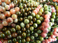 Wholesale A Natural Tourmaline 6 6 5mm Round Strand Loose Beads Mix Color Stone Freeshipping