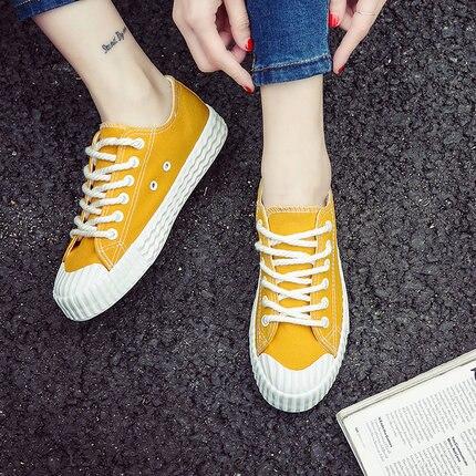 Chaussures Nouvelle Plat Sauvage Coréenne Été Harajuku Toile 2018 Étudiantes Respirant Ulzzang Mode Casual 1 2 4 Femmes 3 PgIqP4