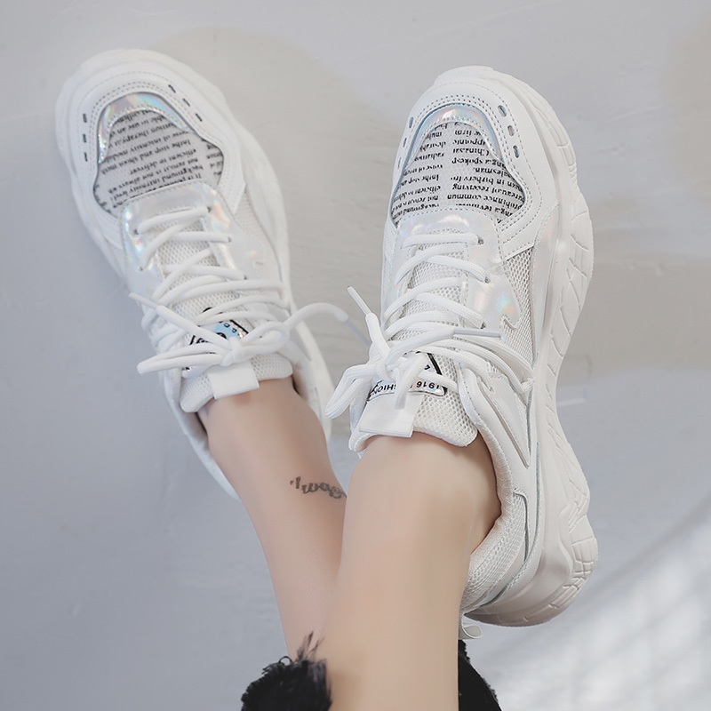 2019 Spring/Summer New Chunky Sneakers Women Shoes Harajuku Casual Platform Dad Shoes Comfortable Breathable Mesh White Sneakers2019 Spring/Summer New Chunky Sneakers Women Shoes Harajuku Casual Platform Dad Shoes Comfortable Breathable Mesh White Sneakers