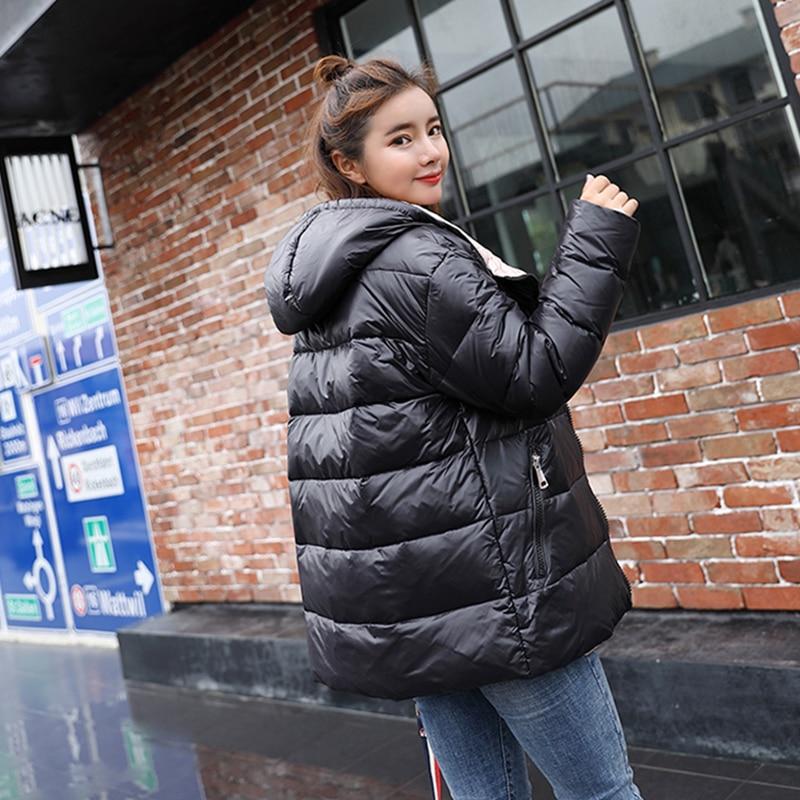 Rembourré Outwear Argent bleu Hiver Couleur Coton Bas Le Bomber Vestes Parka Vers Métal Court 2018 Chaud Noir Femmes Noir De Nouveau Bleu argent Manteau Manteaux qwTngO1Uxt