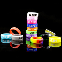 Pilot VAPE 100pcs E Cigarette Accessories Silicone Ring for ijust s Silicone Ring Letter Relief Mixed Style Mechanical Mod