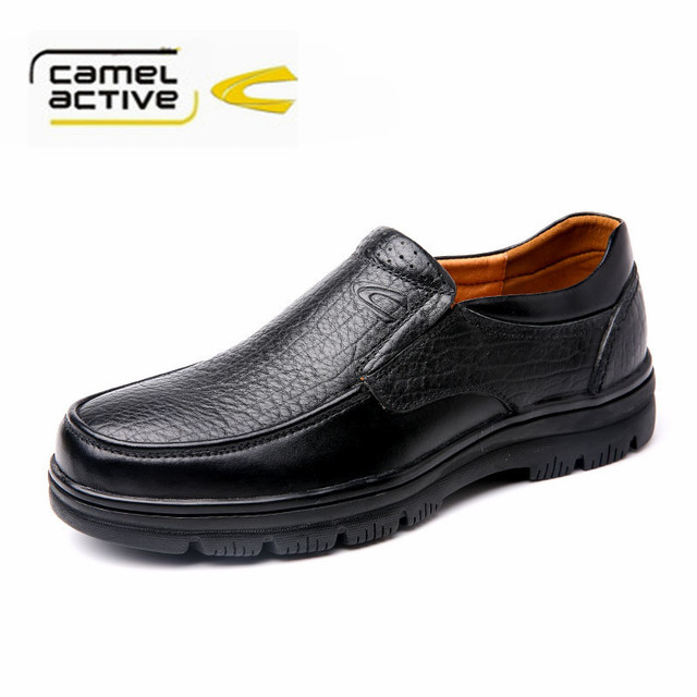 Camel active Fashion Men Casual Shoes Full Grain Leather Men Loafers  Waterproof Durable Slip on Men