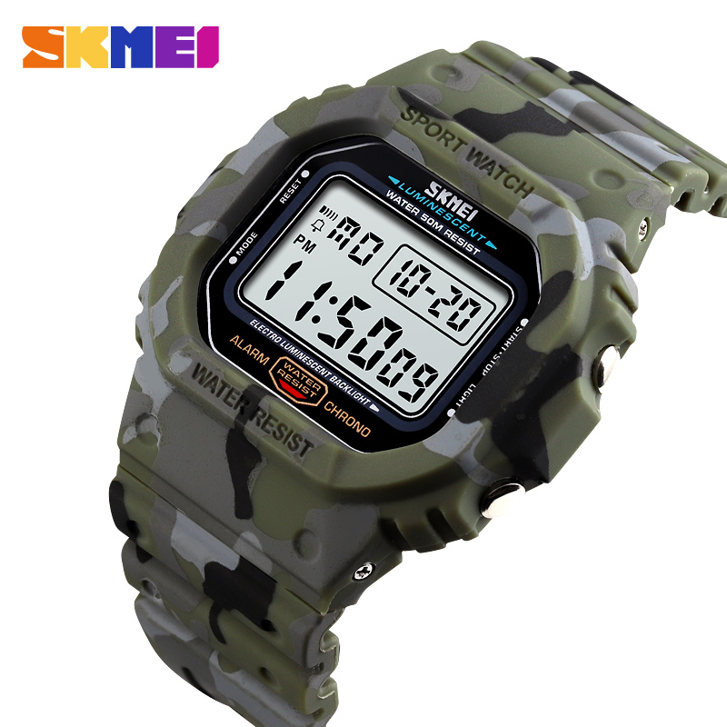 Digital Watch Military Skmei-1471 Sports Waterproof Relojes Men Masculino Para Luminous